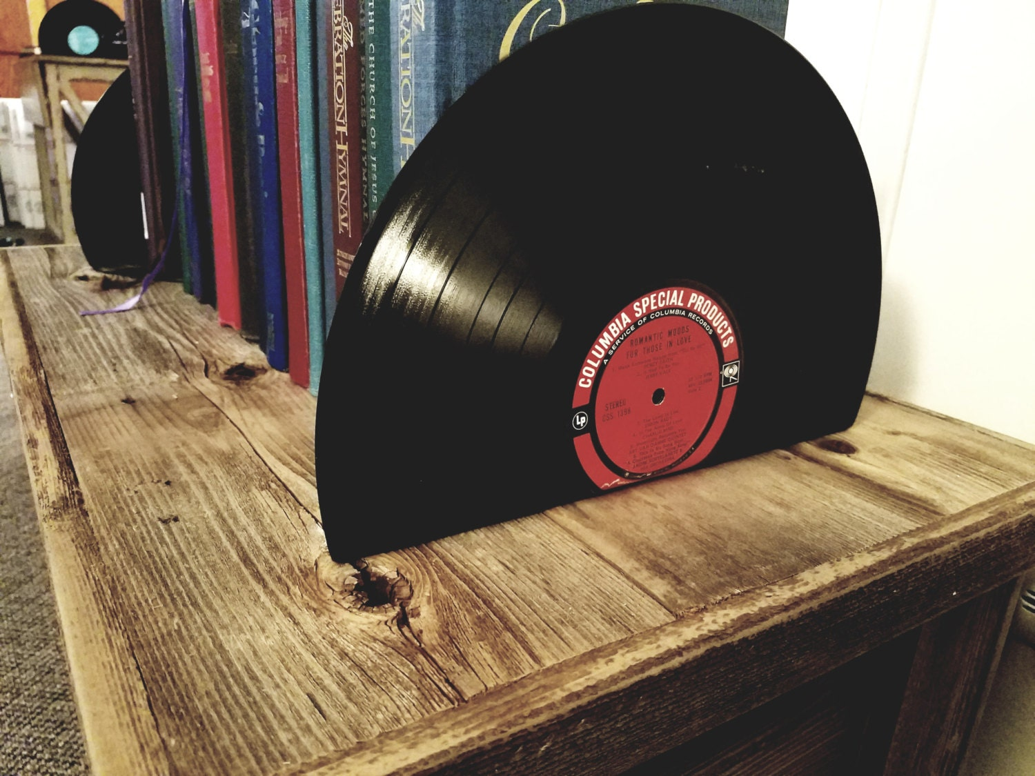 Vinyl Record Bookends Vintage Bookends For The Music