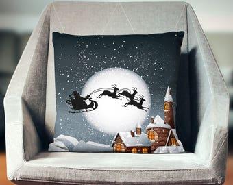 Santa Pillow | Santa Decoration | Santa Decor | Santa Throw Pillow | Christmas Decoration | Christmas Pillow | Reindeer Cushion