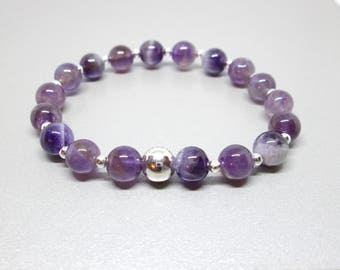 Healing crystals bracelet, Amethyst bracelet, anxiety relief, healing jewelry, calming jewelry, protection stone, anxiety aids, energy beads