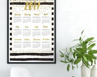 2017 Glitzer Kalender 2017