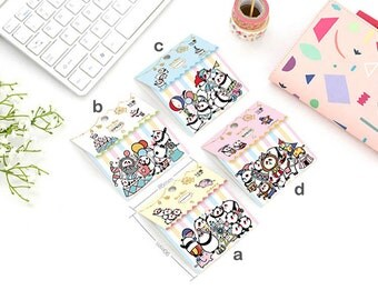Flake Stickers, Cute Panda, Circus, Seal Bits, Flat Transparent