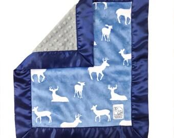Blue Deer Security Blanket Navy Blue