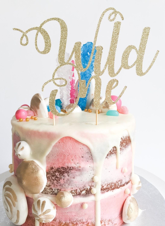 Wild One Cake Topper Custom Cake Topper Birthday Cake