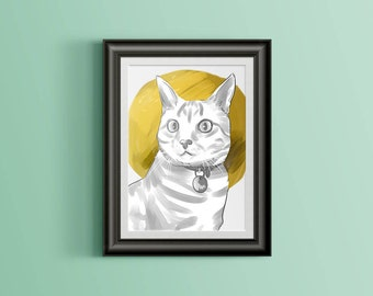 Custom Cat Portrait - Pop Art Style
