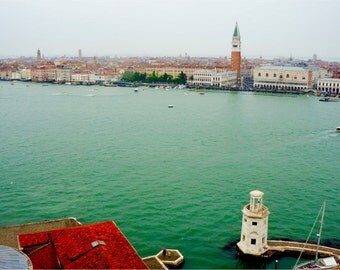 Venice Print, Italy, Travel Photography, San Marco, Fine Art, Italian Art, Bridge of Sighs, Green Wall Art, Venice - Bacino di San Marco
