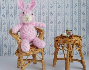 Hand Knit Bunny. Newborn Photo Prop. MADE TO ORDER. 14 Colours. Knit Bunny Photo Prop Stuffie. Knit Rabbit Toy. Rabbit Photo Prop Baby Toy.
