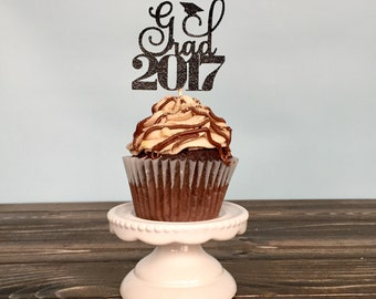 Graduation cupcake toppers, graduation party decorations, grad cap cupcake toppers, graduation decorations, grad 2017, grad decorations