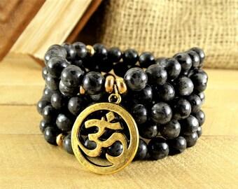 Japa Mala 108 Buddha Beads Nature Mala Yoga Wrap Bracelet Om Mala Meditation Necklace 108 Mala Wrap Buddhist Rosary 108 Prayer Beads Rosary