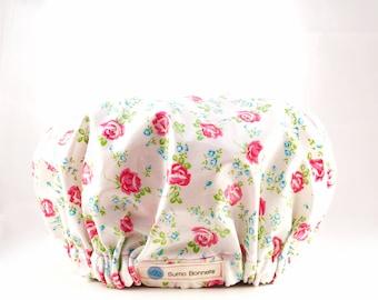 Pink Floral Luxury XL Shower Bonnet