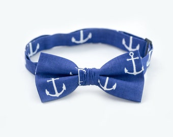 Bow Tie For Toddler Matching Daddy Son Bowties Navy Anchor Bowtie Kids Bow Ties