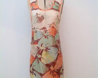 Beautiful 1930s ballerina print apron vintage