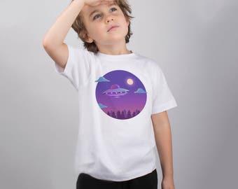 Space Shirt UFO Shirt Alien Shirt Space Clothing Alien Tshirt Girls Shirt Boys Shirt Babys Shirt Kid Shirt Kids Shirt Funny Kids PA1182