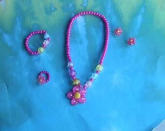 Little Girls Four Piece Necklace Set