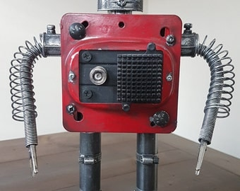 SALE!! Red Robot Sculpture | Collectibles