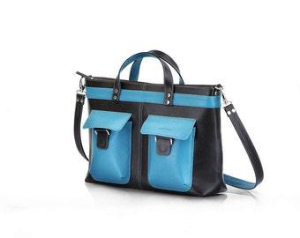 Messenger Bag   Leather Briefcase   Leather Handbag Unisex   Leather Messenger Bag