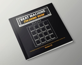 beat machine coloring book version 2 coloring pages gifts for musicians music lovers