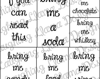If You Can Read This... Bring Me Wine + 35 Additional Sayings Package 1 - SVG File