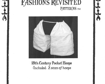 18th Century Pocket Hoops Pannier Sewing Pattern 1700-1790