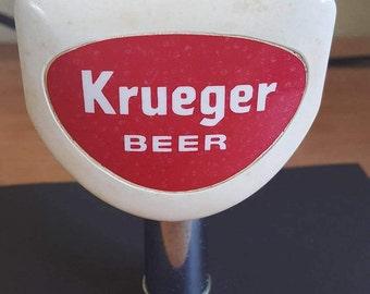 Vintage 1950's Krueger Beer ball tap handle