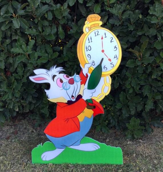 Alice in Wonderland - White Rabbit - Party decoration PROP - cutout standee