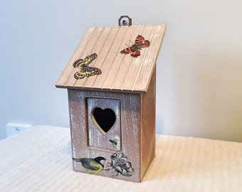 Up-cycled Decoupage Bird Box
