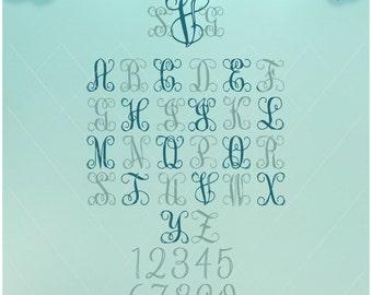 Interlocking Font / Monogram SVG / Interlock Font / Monogram font