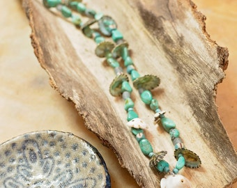 Sea inspired bead necklace