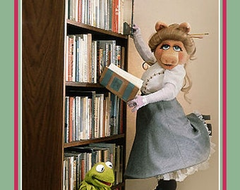 "18X24"" Muppets READ Poster - Iconic Miss Piggy and Kermit the Frog Print for the American Library Association"