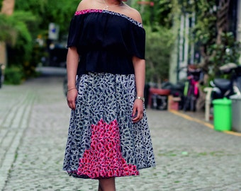 Ulo:  African Print Skirt