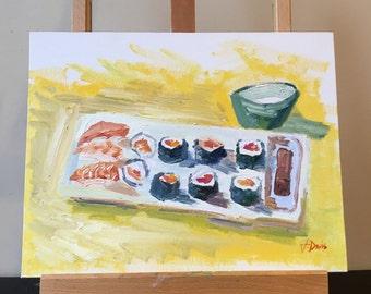 Sushi - Original Oil Painting/11x14