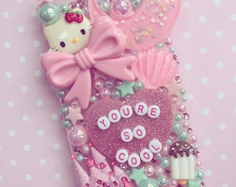 You're so cool Pink & Mint decoden phone case - can be made for any device