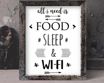 Wifi funny quotes for teen room,dorm decor printable wall art quotes,black and white typography print,boys art print to frame,gift for him