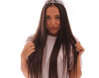 Tiara, Bridal Tiara, Bridal Veil, Princess Tiara, Bachelorette Tiara, Bride Crown, Bride gift, Bachelorette Veil, Wedding Veil, Bride to Be