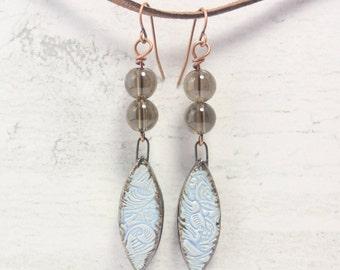 Blue Boho Earrings, Boho Jewelry, Colourful Earrings, Everyday Earrings, Summer Jewelry, Gypsy Earrings, Blue Earrings, Drop Earrings