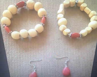 Tan and Red Set
