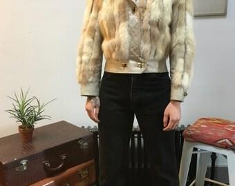 1970s Fox Fur Bomber Jacket