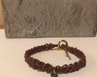 All-Seeing Eye Charm Hemp Bracelet