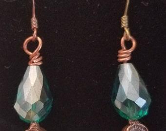 Emerald Victorian Earrings