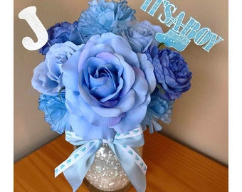 Personalized New Baby Floral Arrangment - It's A Boy - Baby Boy Gift - Baby Shower