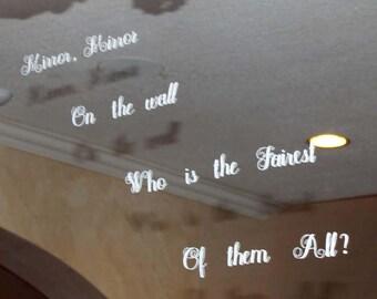 "Snow White ""Mirror Mirror"" Window Cling"