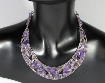 """Frida"" in bronze and Amethyst necklace"