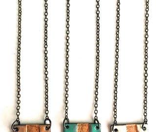 Square Enamel Necklace