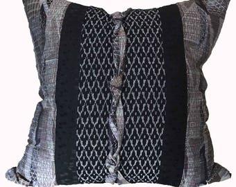 Black and Gray Kimono Pillow