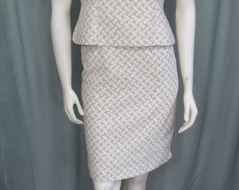 Bill Blass 1970's Designer Cotton skirt suit size S-M