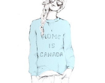 Home is Canada Print