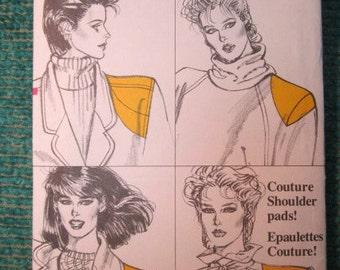 Vogue 8817 Vintage 1980's Couture Shoulder Pads Pattern -Big Eighties Shoulder Pad Patterns! - Raglan and Sleeve Puff Shoulder Pad Patterns