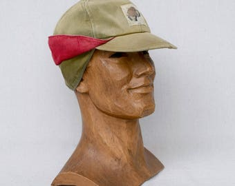 Vintage Hunting Cap 1950's Mens Workwear Earflap Hat