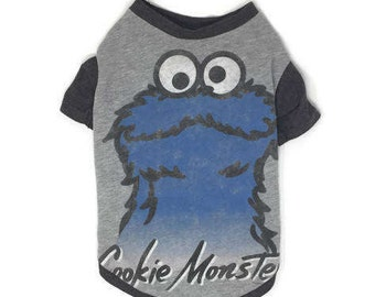 Cookie Monster Dog Tee, Size Large