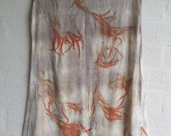 One of a kind eucalyptus diagonal hemline jersey dress