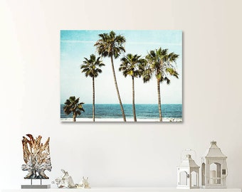 Canvas Art, Palm Trees, Beach Wall Art, Canvas Gallery  Wrap, Ready To Hang, Seaside, Coastal Decor, Palm Tree Canvas, Large Wall Art
